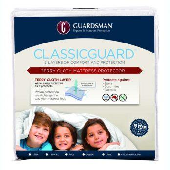 GUARDSMAN® CLASSICGUARD™ MATTRESS PROTECTOR – FITS UP TO 20″