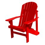 Adirondack Chair – Fire Engine Red
