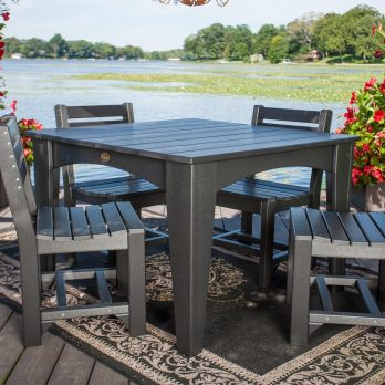 5pc Poly Island Dining Table Set