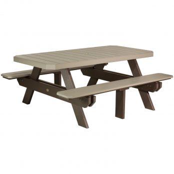 6′ Rectangular Picnic Table