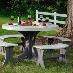 5pc Poly Round Dining Set