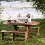 3pc Poly Oval Dining Table Set