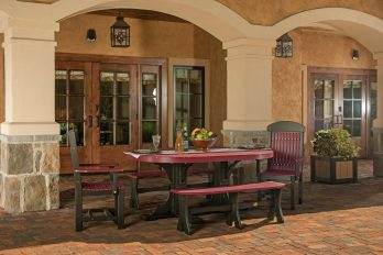 5pc Poly Classic Dining Set