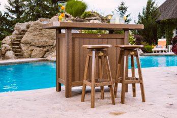 3pc Poly Serving Bar Table Set