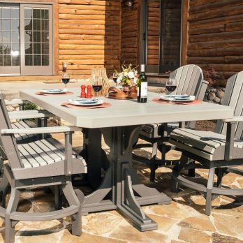 5pc Poly Adirondack Dining Table Set