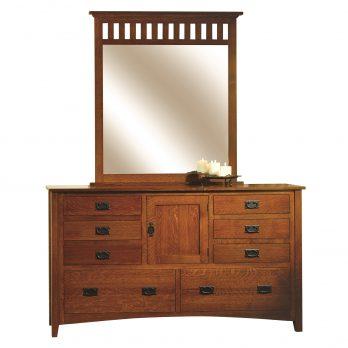 Mission Antique Dresser & Mirror