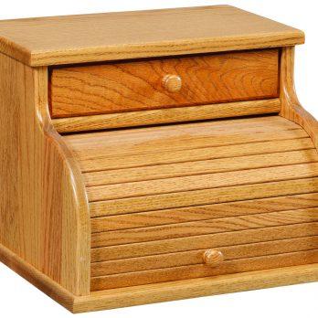 Roll Top Bread Box w/Drawer
