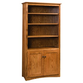 72″ Mission Bookcase w/2 Doors
