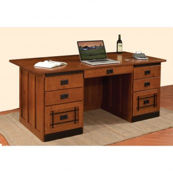 72″ Mission Executive Desk