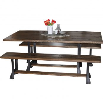 Cast Iron Dining Table & Bench