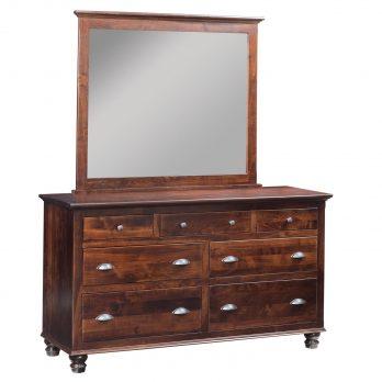 Choices Bun Leg Dresser w/ Mirror