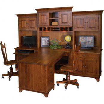 Finley Partner Desk and Hutch