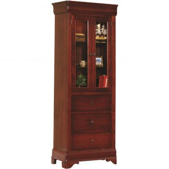 Louis Phillipe 23″ Murphy Wall Bed Bookcase