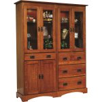 Old English Mission 30″ Murphy Wall Bed Bookcase