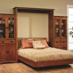 Old English Mission 30″ Murphy Wall Bed Bookcase w/Doors