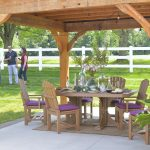 7pc Poly Adirondack Dining Set