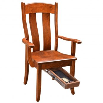 Gold Rush Arm Chair W/Quick Drawer