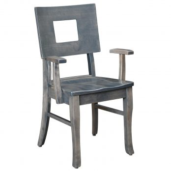 Small Space Living Square Back Arm Chair